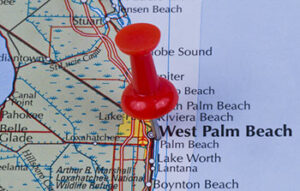 A map of Palm Beach County