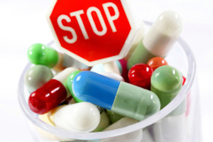 A cup full of pills